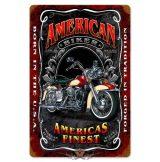 American Biker-  Metal Sign.  20X30.cm. fém tábla kép