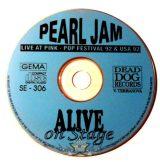 PEARL JAM - LIVE AT PINK - POP FEESTIVAL. 92.USA.  boritó nélküli cd lemez