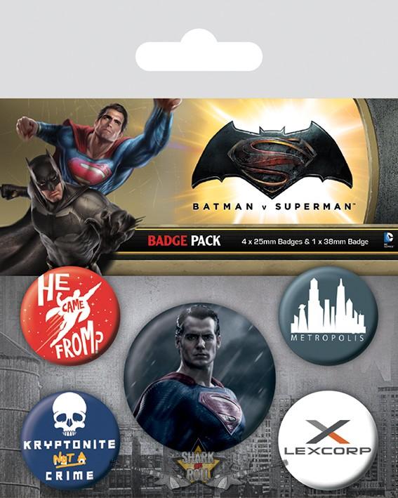 BATMAN V SUPERMAN (SUPERMAN) BADGEPACK. jelvényszett - Shark n Roll ... aa2e58e9c6