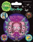 Rick and Morty - (Psychedelic Visions). matrica szett