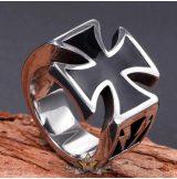 Crusader cross ring . Steinless Steel. gyűrű