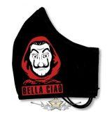 BELLA CIAÓ - Textil pamut kétfalas szájmaszk.   maszk, védőmaszk