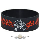 GUNS N ROSES - SLASH - LOGO -  Rubber Wristband.   szilikon karkötő