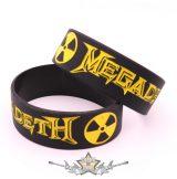 MEGADETH - LOGO -  Rubber Wristband.   szilikon karkötő