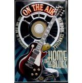 GUITAR - HOME OF THE BLUES -  Metal Sign.  20X30.cm. fém tábla kép