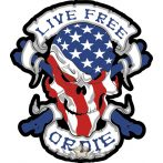 LIVE FREE - OR DIE, felvarró.