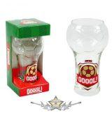 Sörös pohár Gól! 2,5dl.  üvegpohár