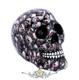 Bloodshot Red-Eye Skull Ornament. 18. CM. koponya figura