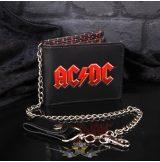 AC/DC - Logós bőr villámláncos pénztárca  with Chain.   import pénztárca