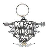 KISS - Keychain -  Alive 35 Tour  import fém kulcstartó