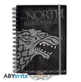 GAME OF THRONES - Notebook.  Stark. notebook, napló