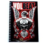 VOLBEAT -  Logo A5 Wiro Notebook.   napló, notesz
