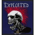 The Exploited -  'Mohican Multicolour' Woven Patch.   import zenekaros felvarró