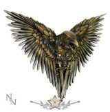 HOLLÓ KARDOKKAL -  Steampunk  Plaque Steampunk Sword Crow Wall Hanging. D1975F6.  fantasy figura