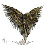 HOLLÓ KARDOKKAL -  Steampunk  Plaque Steampunk Sword Crow Wall Hanging. D1975F6.  fantasy figura