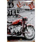 ROUTE 66 - ROUND BEDS -  Metal Sign.  20X30.cm. fém tábla kép