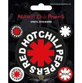 RED HOT CHILI PEPPERS . Vinyl stickers. matrica szett