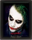 3D. The Dark Knight - Why So Serious.  3 dimenzios keretezett kép