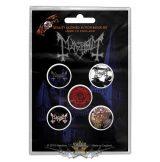 Mayhem - Button Badge Pack.  De Mysteriis Dom Sathanas.   jelvényszett