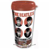 The Beatles - Travel Mug. 1962 Performing Live with Plastic Body. utazó pohár.