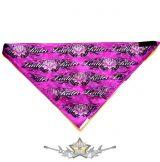 Háromszög formájú  kendő.- Lady Rider pink.    vászon kendő