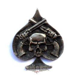 Skull & guns,  fém motoros jelvény