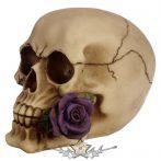 Koponya Punk - Skull Ivory Head With Bullets.   SK192.. koponya figura