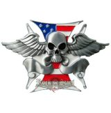 SKULL WINGS - USA FLAG . öv + övcsat