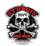 Sturgis Motorcycle Rally -  Human Skull Pin. USA import motoros fém  jelvény