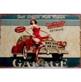 GARAGE - FULL SERVICE.  Metal Sign.  20X30.cm. fém tábla kép