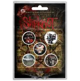 Slipknot - Button Badge Pack.  Albums.   jelvényszett