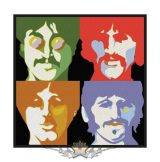 The Beatles -  'Sea of Science' Woven Patch.    import zenekaros felvarró