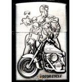 MOTOR CYCLE SILVER 2.  zippo fazonú öngyujtó
