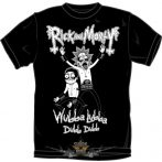 RICK AND MORTY -  WUBBA LUBBA Metal  T-Shirt BLACK.  filmes  póló