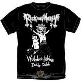 RICK AND MORTY -  WUBBA LUBBA Metal  T-Shirt BLACK.  filmes  póló