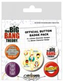 THE BIG BANG THEORY (CHARACTERS) BADGEPACK.  jelvényszett
