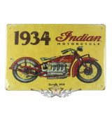 BIKER -  Indian motorcycle. 1934. biker tin metal sign.  20X30.cm. fém tábla kép