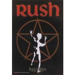 RUSH - Starman. TEXTILE POSTER. zenekaros zászló