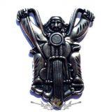 OLD BIKER . KGJ.  nagyméretű fém motoros jelvény