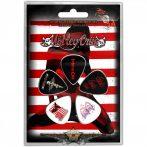Mötley Crüe -  Plectrum Pack Red, White & Crue.   gitárpengető szett