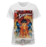 SUPERMAN - BURN. filmes póló