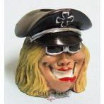 Biker Butt Headz - Biker chick.  cigaretta tartó, füst elnyelő figura, toll és ceruzatartó.