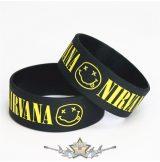 NIRVANA -  Rubber Wristband.   szilikon karkötő