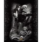 David Gonzales -  Biker Babe Tatuagem Chicano Cobertor Rainha. 30x40.cm. fém tábla kép