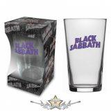 Black Sabbath 'Purple Logo' Beer Glass . BG040.   üvegpohár, söröspohár