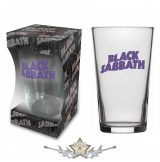 Black Sabbath 'Purple Logo' Beer Glass . BG040.   üvegpohár, söröspohár