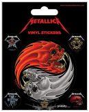 Metallica - Yin & Yang Skulls. Vinyl stickers. matrica szett