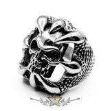 Koponya karmokkal - 1.design. skull ring.  Steinless Steel. gyűrű