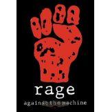 RAGE AGAINST THE MACHINE. TEXTILE POSTER. zenekaros zászló