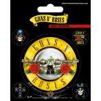 Guns N' Roses - Bullet Logo. Vinyl stickers. matrica szett